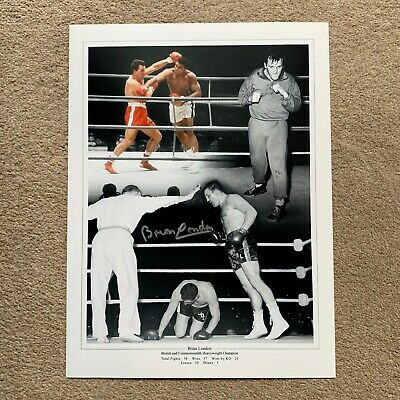 SALE BRIAN LONDON BOXING HAND SIGNED PHOTO AUTHENTIC + COA - 16x12