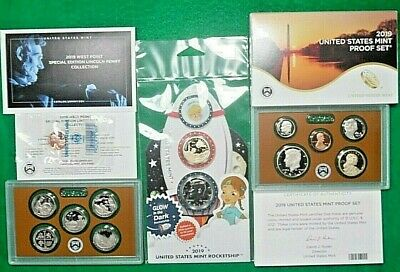 2019 US MINT ROCKET Ship & 2019 Proof Set w/ 2019 W Proof Penny