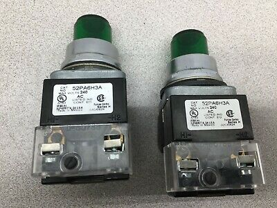 Used Lot Of 2 Furnas Green Lighted Push Button 52Pa6H3A