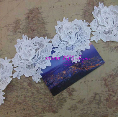 63CM Embroidery Lace Edge Trim Ribbon Wedding Appliques Sewing Craft Decor