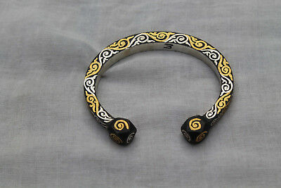 old mughal indo-persian gold & silver damascened ladies braclets christmas gift