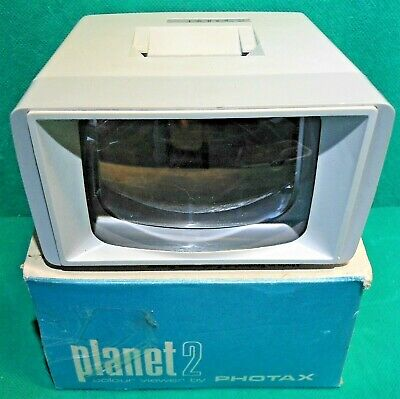 """Vintage 1960's Photax P2 35mm 2"""" Slide Viewer Battery Operated With Light WORKS"""