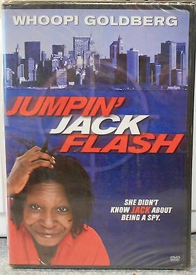 Jumpin' Jack Flash (DVD, 2004) RARE WHOOPI GOLDBERG 1986 COMEDY BRAND NEW