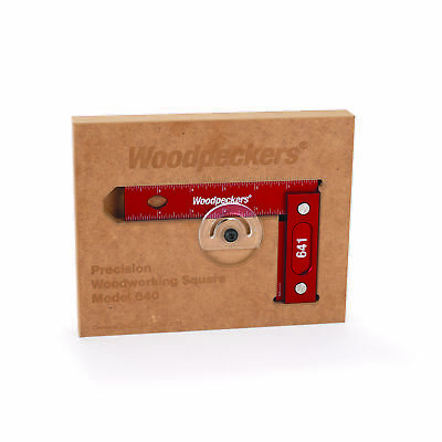 "Woodpeckers Precision Woodworking Square 6"" x 4"" Wall-Mountable Imperial"