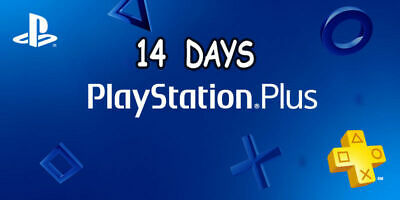 ★ Playstation Psn Plus 14 Days Online Trial  For Ps4 / Ps3 / Ps Vita ★