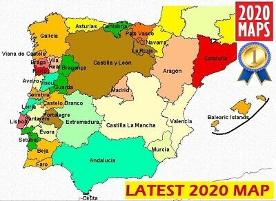 Latest Spain and Portugal Map 2019 for Garmin GPSs
