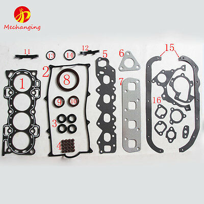 For DAIHATSU CHARADE 1.3 16V APPLAUSE 1.6 HDC HDE HCE head gasket Full Set