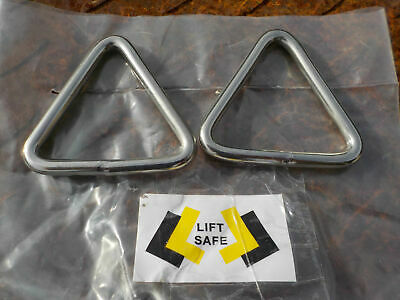 2 x Stainless Steel 304 Triangles 50x6mm Marine Rope, Webbing, Harness straps,