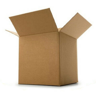 Cardboard Postage Boxes Single Wall Postal Mailing Small Parcel Box 8 x 8 x 6""