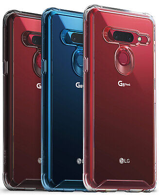 For LG G8 ThinQ | Ringke [FUSION] Clear PC Back Shockproof TPU Bumper Cover Case