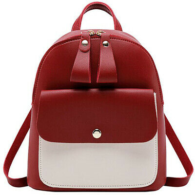 New Product Women Trendy Small Zipper Shoulder PU Small Backpack Bag LH