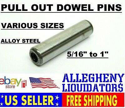 "5/16 to 1"" VARIOUS SAE ALLOY STEEL PULL OUT DOWEL PIN WITH INTERNAL THREAD NH"