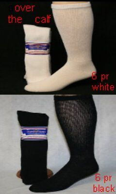 Physicians Choice over the calf-6 PR-13-15 Diabetic Socks -3pr White-3pr Back