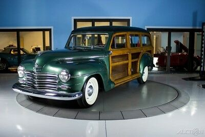 1948 Plymouth Woody P-15 Model Green Wood-Sided Station Wagon
