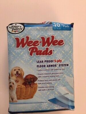 """New Four Paws Puppy/Dog Wee Wee (Pee Potty) Quilted Pads 22""""x23"""""""