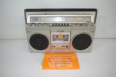 Sony Model CFS-45 Boombox Cassette Player Working