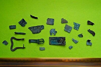 Viking Bronze Set of Belt Buckles&Pin&Fragments