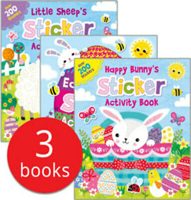Easter Time Sticker Activity Collection - 3 Books