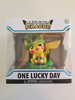 Funko Figure Pokemon A Day With Pikachu One Lucky Charm Vinyl New In Hand RARE
