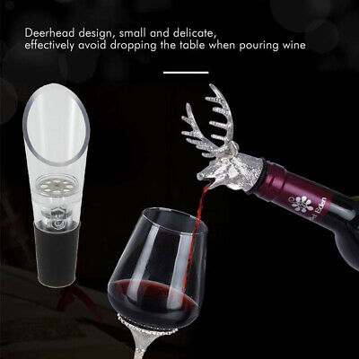 2x Red Wine Air Aerator Aerating Pour Spout Bottle Stopper Decanter Pourer