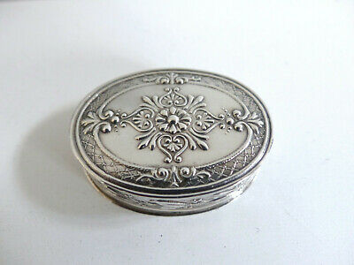 Superb Antique French Silver Pill Box