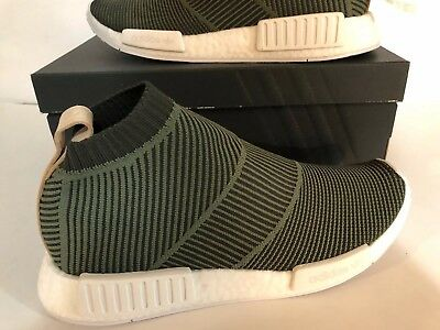 68c06703f Adidas Nmd CS1 Pk Primeknit Boost Night Cargo Tan Leather Men B37638 Size  9.5