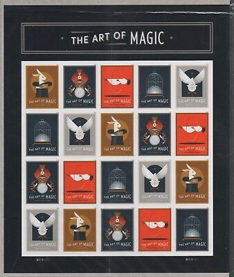 Us Magical 2018 Scott #5301-5305 The Art Of Magic 20 Mint Vf Forever Stamp Sheet