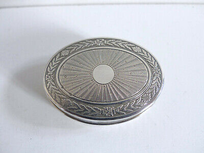 Superb Antique French Silver 950 Oval Pill Box