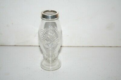 Silver Topped Cut Glass  Vase Hallmarked Lion Anchor B