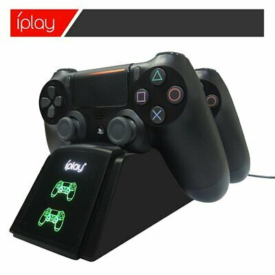 Rapide Chargeur Station Double USB Support pour PS4 Manette Eager Chargeur FR