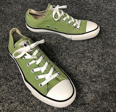 c68925256c Converse All Star Green Canvas Low Top Shoes Size Mens 6 Womens 8 In EUC