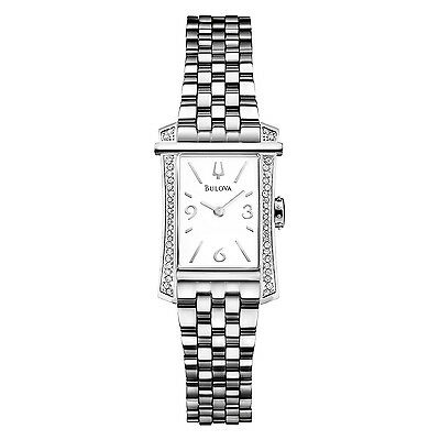 Bulova Diamonds Women's 96R186 Quartz Silver Tone Stainless Steel Bracelet Watch