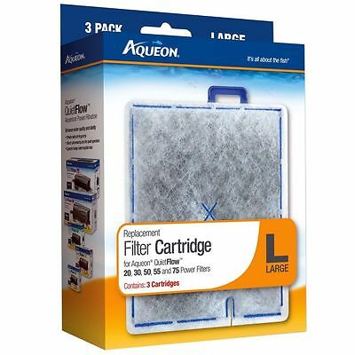 Aqueon Quiet Flow 20 30 50 55 Replacement  Large 3 Pack Filter Cartridges