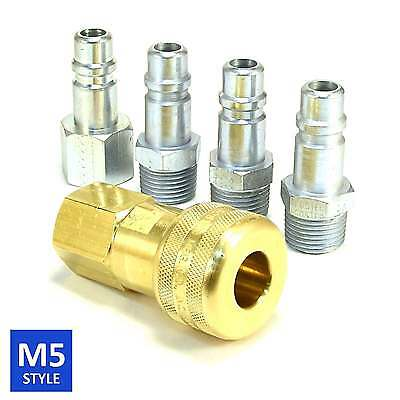 Foster 5 Series Brass Quick Coupler 1//2 Body 3//4 Hose Barb Air Water Fittings