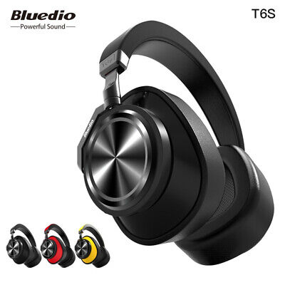 Bluedio T6S Active Noise Canceling Wireless Bluetooth Headphone with Microphone