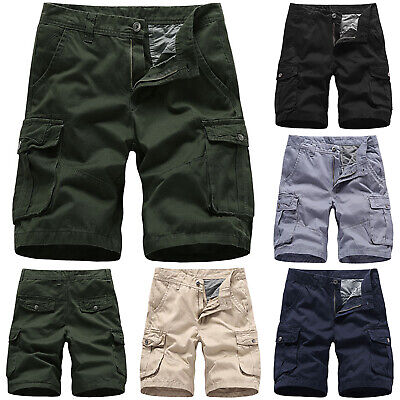 Mens Cargo Shorts Pants Army Combat Tactical Military Walk Work Camping Trousers