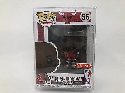 NBA Funko Pop Michael Jordan MJ Chicago Bulls Target Exclusive w/ POP PROTECTOR!