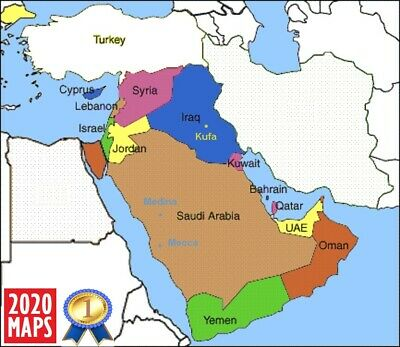 Latest Saudi Arabia, UAE, Iraq, Syria, Israel & more Maps 2019 for Garmin GPSs