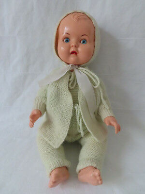 Baby Puppe, Vintage Baby Doll Evergreen 9916, 37 cm