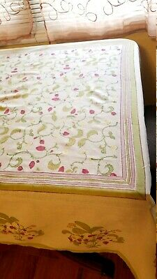Couleur Nature by Bruno Lamy Cotton Tablecloth, Fraise (Strawberry) Hand Printed