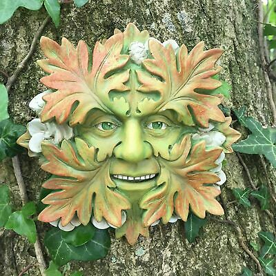 Green Man Garden Sculpture Wall Art Sculpture Wiccan Pagan Ornament