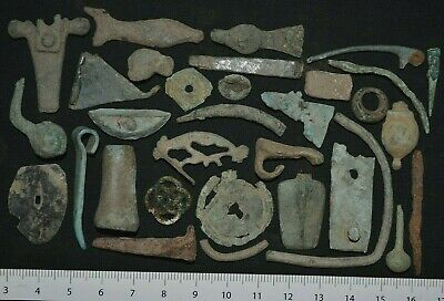 Group of over 30+ Ancient Viking Bronze Artefacts. Detector Finds, c 950-1000 Ad