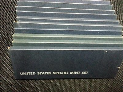 Lot Of Ten (10) 1966 Us Special Mint Sets 50 Bu Coins Mint Cello Sms 40% Silver