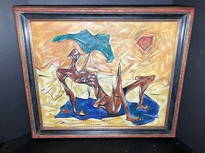 Mid Century Abstract Modernist Canadian Oil Painting by Donald Alvin Jarvis