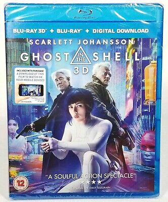 Ghost in the Shell 3D (Blu-ray 2D + 3D, 2-Disc Set) UK IMPORT REGION FREE