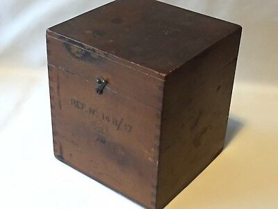 RAF AIR MINISTRY Empty Wooden Box Ref no 14B/17 Militaria 1930/40s