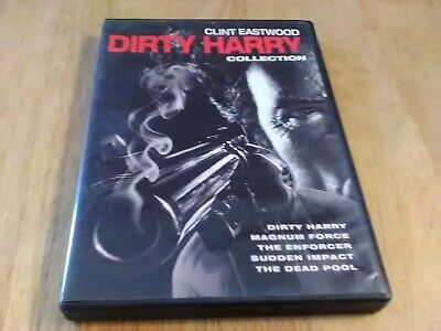 CLINT EASTWOOD 5 FILM DIRTY HARRY COLLECTION DVD - VG Free Shipping