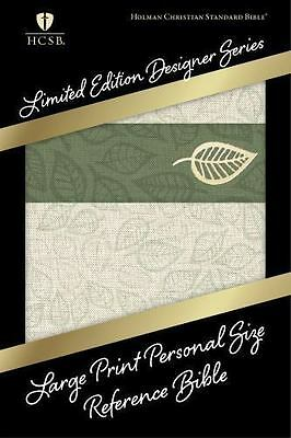 HCSB Large Print Personal Size Reference Bible, Designer Series, Linen Leaves Le