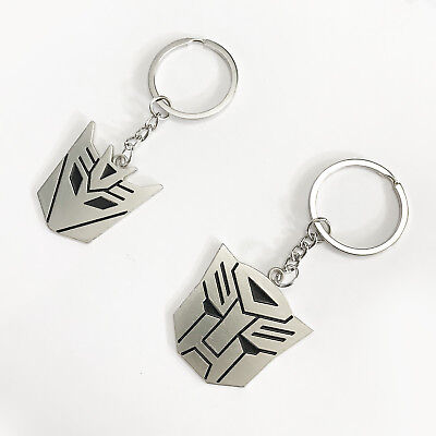 2pcs Transformers Keychains Decepticon Autobot Emblems Symbols Key Rings NEW