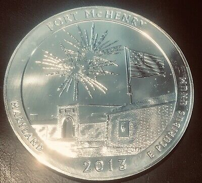 2013 America The Beautiful 5 Oz 25C Fort McHenry